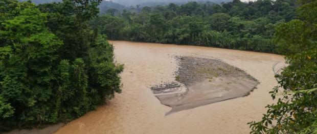 Řeka Villano, ve které komunita Chuya Yaku loví ryby. Foto: Archiv A. Walach